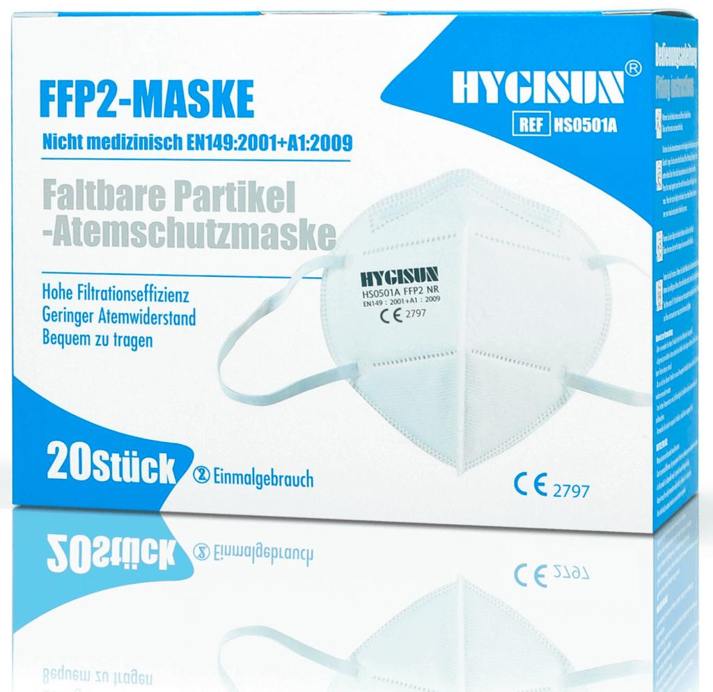FFP2 Atemschutzmasken - nach europäischer Norm gefertigt mit hohen Tragekomfort. Hergestellt aus hochwertigem Material mit elastischen Gummibändern kann die Maske in der Größe individuell verstellt werden. Lieferung aus Deutschland.