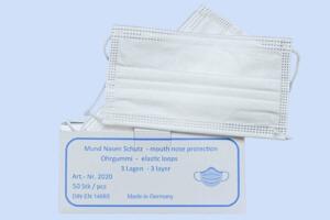 Mundschutzmasken mit Spritzschutz made in Germany - geprüft nach DIN EN 14683 Typ IIR